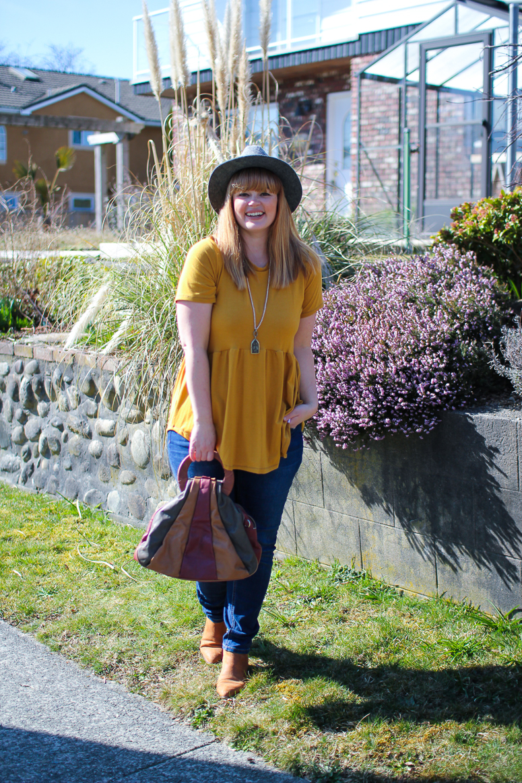 yellow peplum